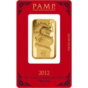 1 oz PAMP Suisse Lunar Gold Bar