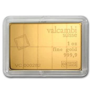 1 oz Valcambi Gold CombiBar