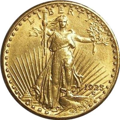 $20 Saint-Gaudens Gold Double Eagle Obverse