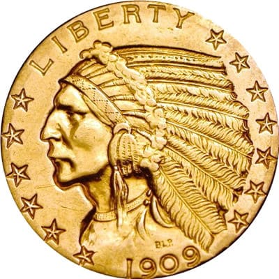 $5 Indian Head Half Eagle Obverse