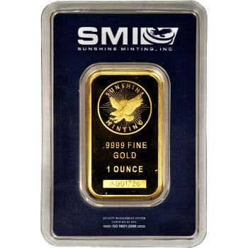 1 oz Sunshine Mint Gold Bar
