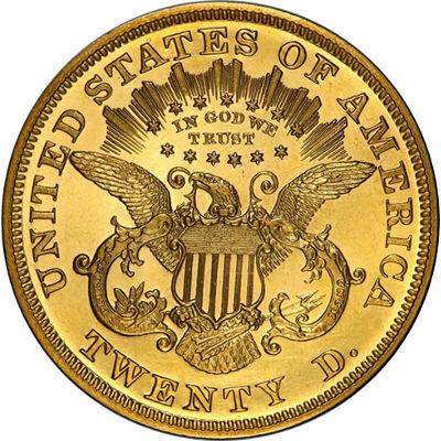 $20 Liberty Gold Double Eagle Reverse